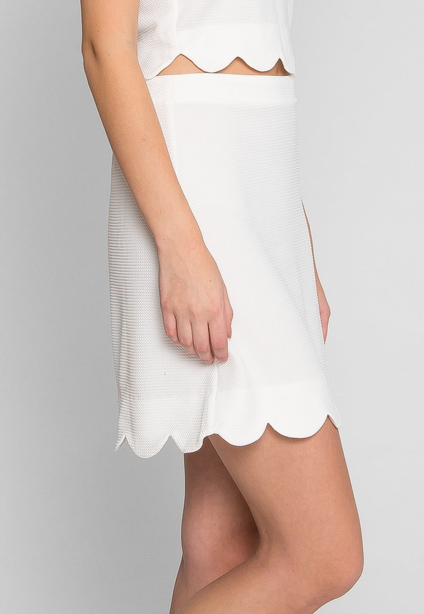 Clear Skies Scallop Skirt - Skirts - Wetseal