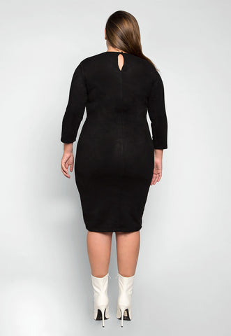 Plus Size Not Yours Faux Suede Dress