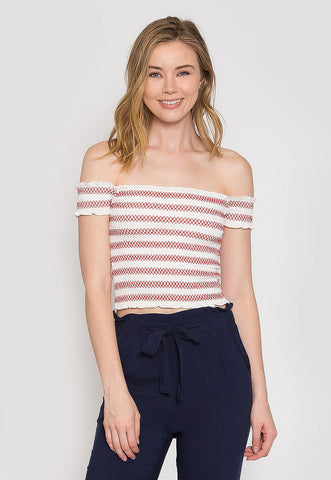 Countryside Stripe Smock Top