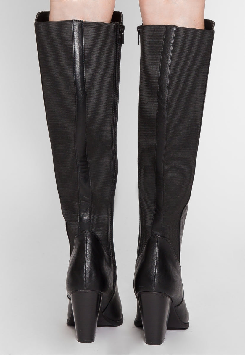 Demi Faux Leather Heel Boots - Shoes - Wetseal