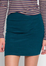 Sandy Mini Skirt in Teal