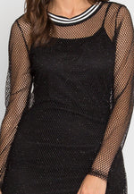 Treasure Glitter Fishnet Dress