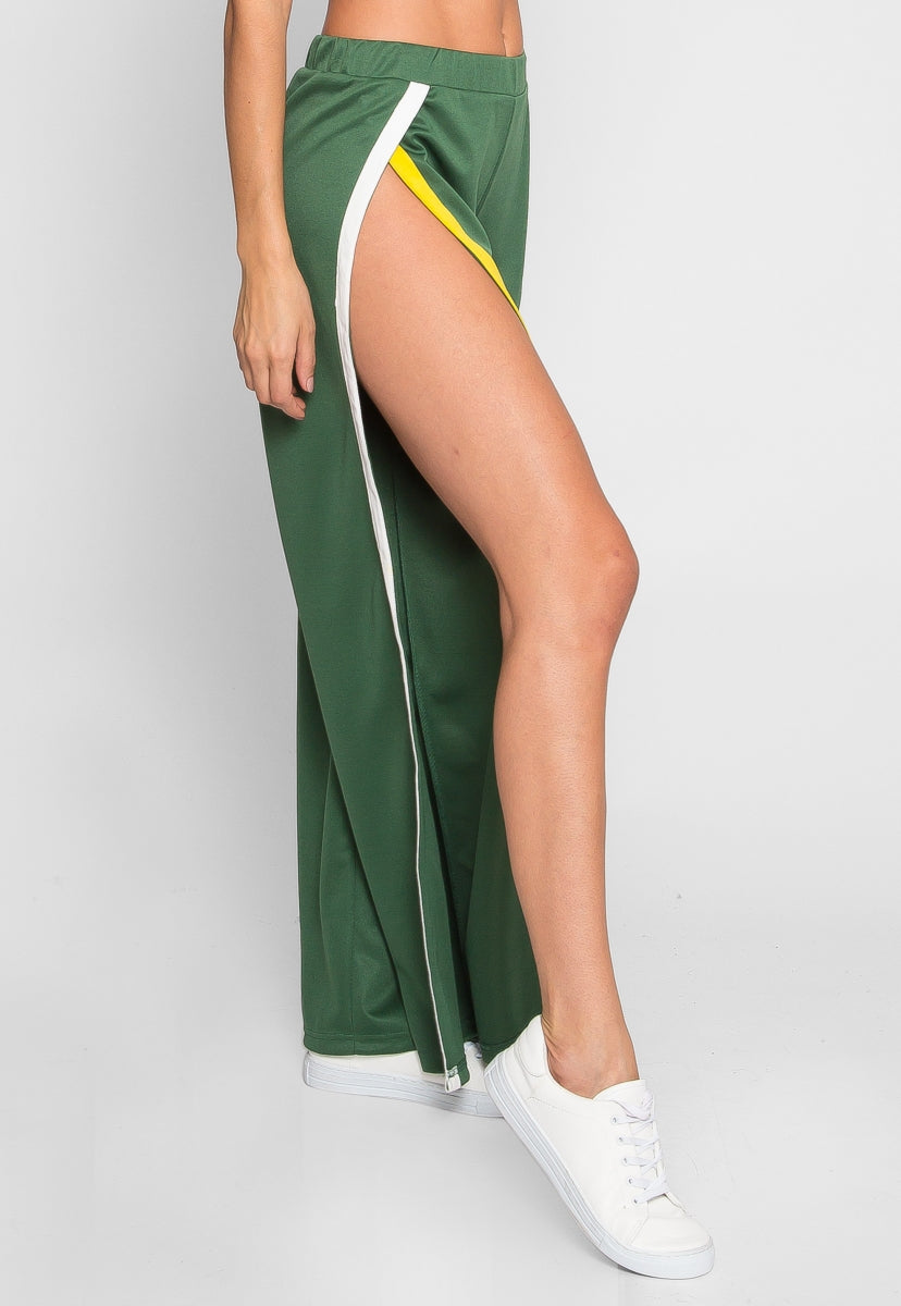 Vroom Tulip Athletic Pants in Green - Pants - Wetseal