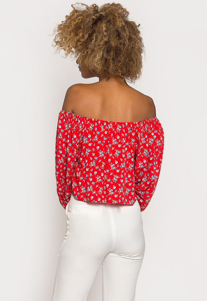 Belonging Floral Peasant Blouse - Shirts & Blouses - Wetseal