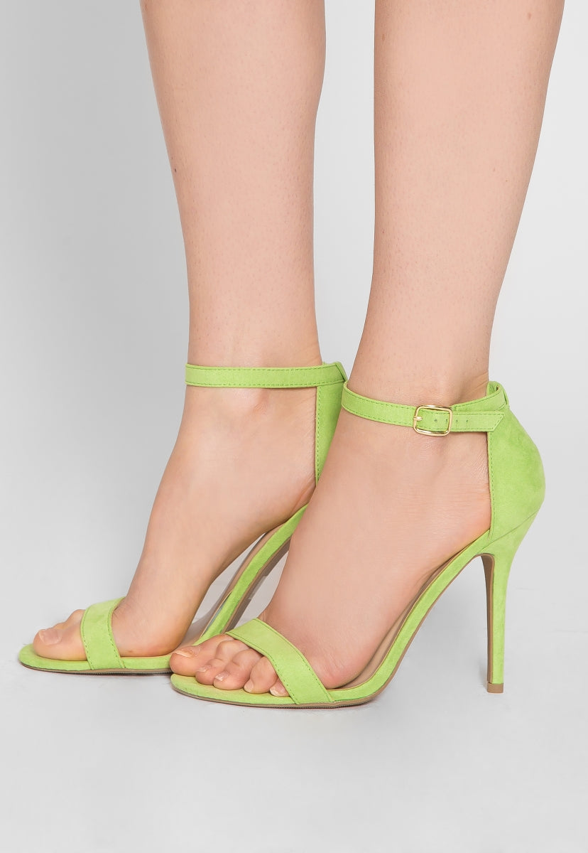 Nature Ankle Strap Heels in Lime - Shoes - Wetseal