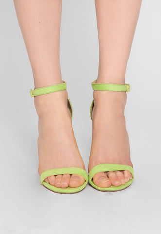 Nature Ankle Strap Heels in Lime