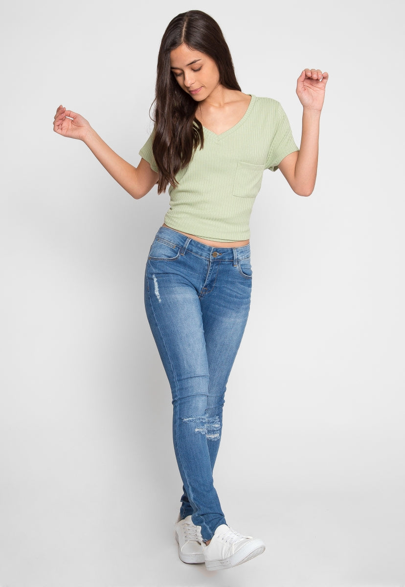 Bailey Distressed Skinny Jeans - Jeans - Wetseal