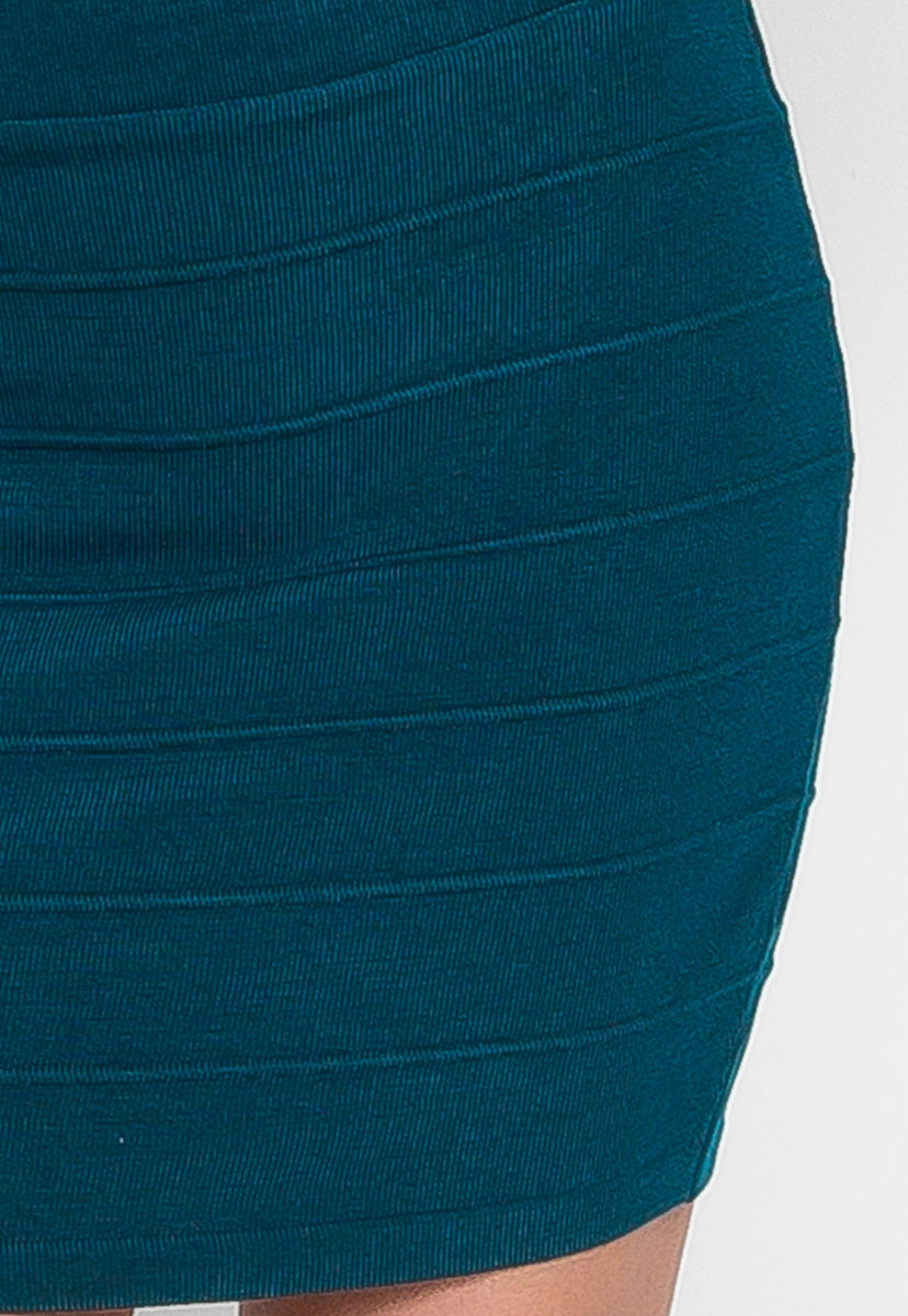 Sandy Mini Skirt in Teal - Skirts - Wetseal