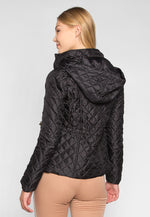 Adventure Time Hooded Quilted Jacket in Black