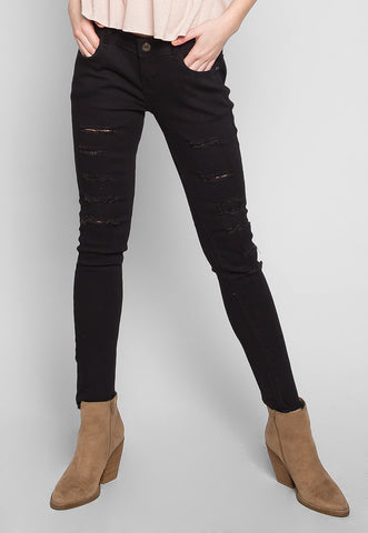Mess Me Up Distressed Skinny Jeans