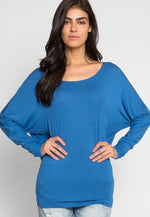 Cozy Day Dolman Sleeve Top in Mist