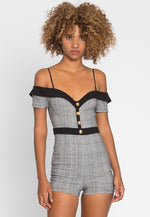 Wonderful Glen Plaid Romper