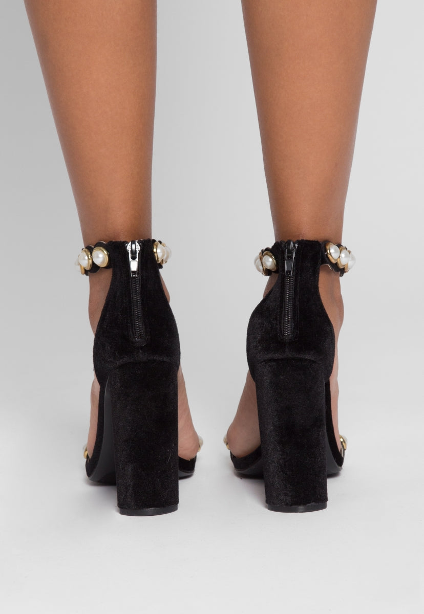 Sweet Child Pearl Strap Heels - Shoes - Wetseal