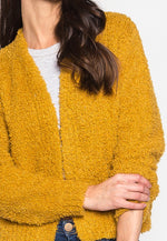 Campfire Front Open Fuzzy Cardigan