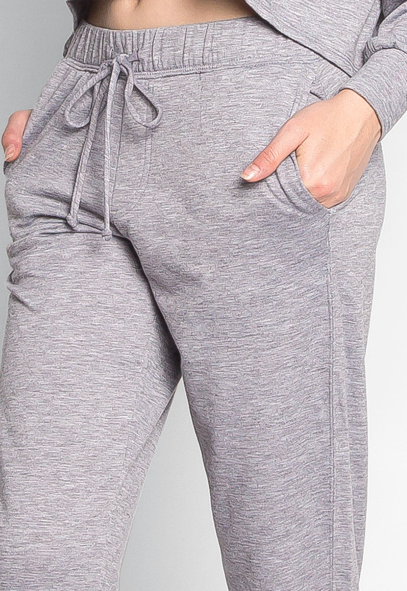 Meet Me There Heathered Joggers in Gray - Pants - Wetseal