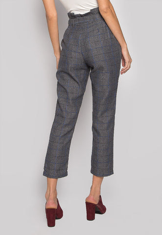 Sweet Enough Paper Bag Plaid Pants