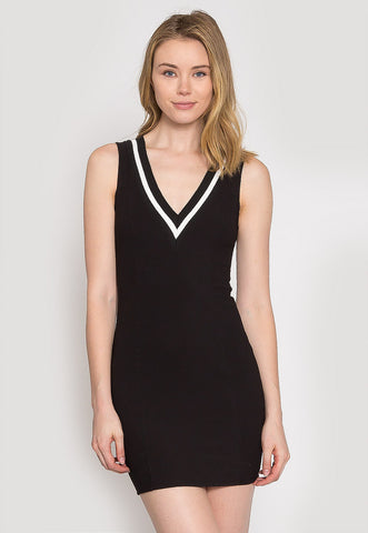 Pacific Varsity V-Neck Dress