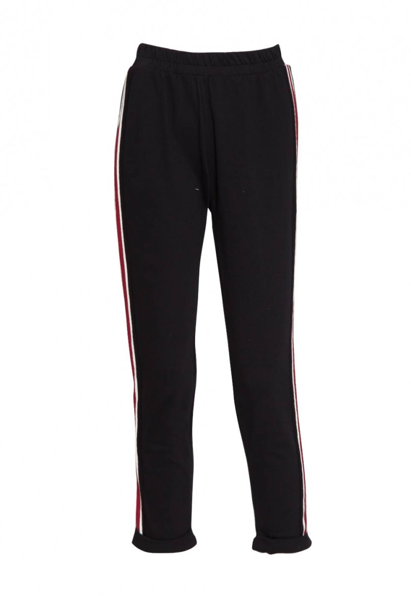 Seismic Side Stripe Sweatpants in Black - Pants - Wetseal