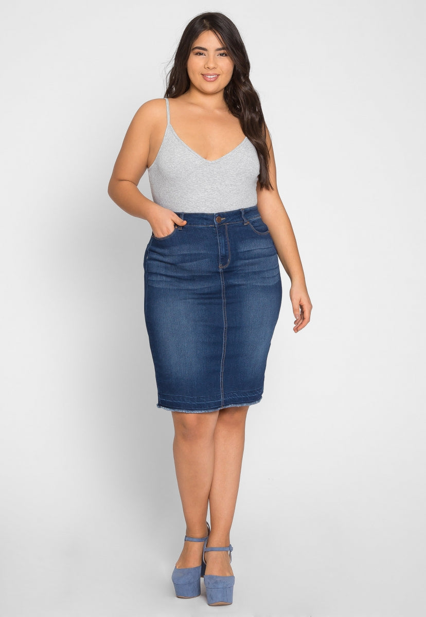 Plus Size Essentials Bodysuit in Gray - Plus Tops - Wetseal