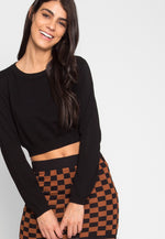 Skate Park Checkered Skirt in Brown