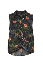 Polynesia Sleeveless Tropic Shirt in Navy