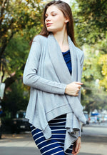 Cascade Open Front Cardigan in Gray