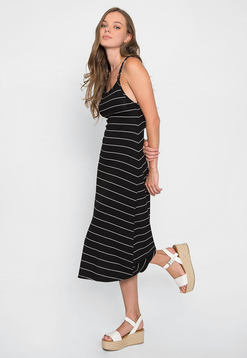 Hopper Stripe Midi Dress - Dresses - Wetseal