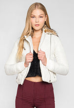 Dreaming All Day Faux Fur Quilted Jacket