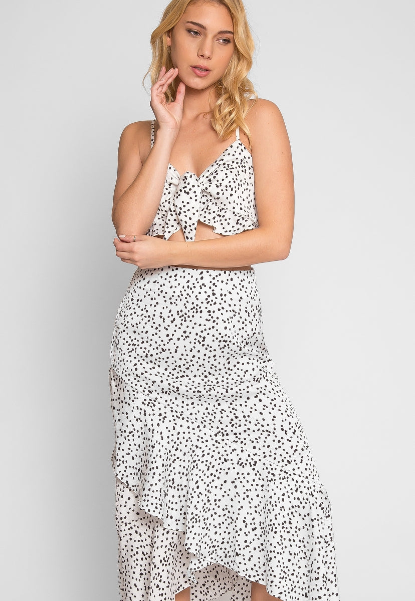 Rampage Leopard Two Piece Set in White - Set - Wetseal