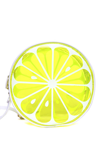 Juicy Printed Clear Canteen Bag in Lime