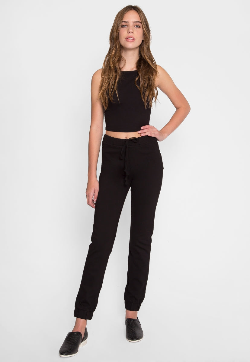 Holly Halter Crop Top in Black - Crop Tops - Wetseal