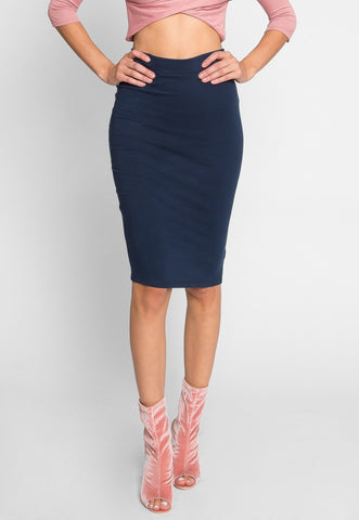 Totally Right Fitted Skirt in Navy