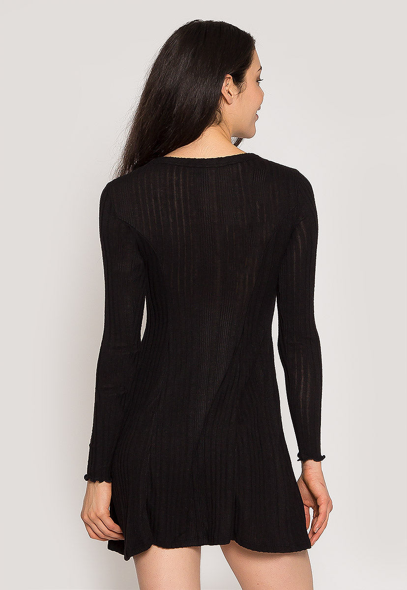 Melody Knit Dress in Black - Dresses - Wetseal