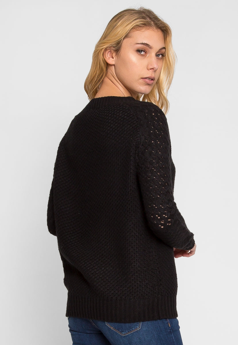 Port Knit Textured Sweater - Sweaters & Sweatshirts - Wetseal