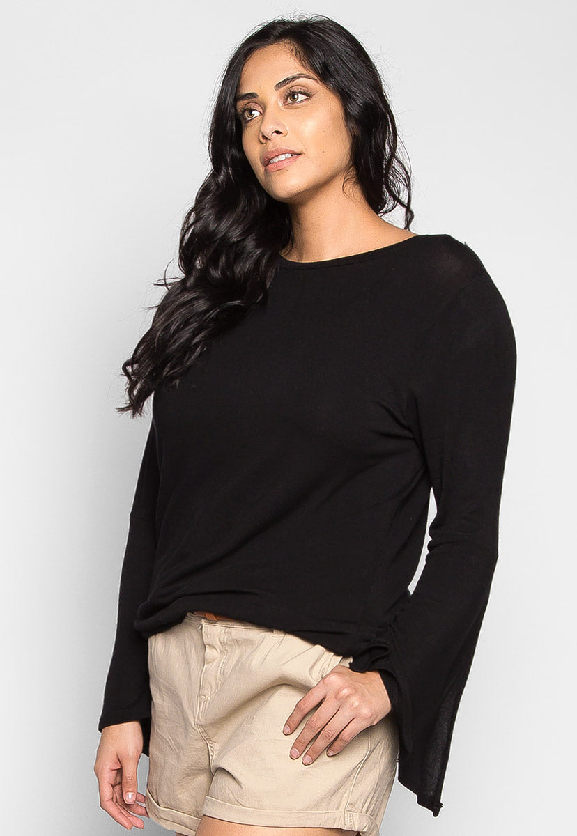 Plus Size Chocolate Cut Out Knit Top - Plus Tops - Wetseal