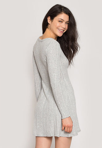 Melody Knit Dress in Gray