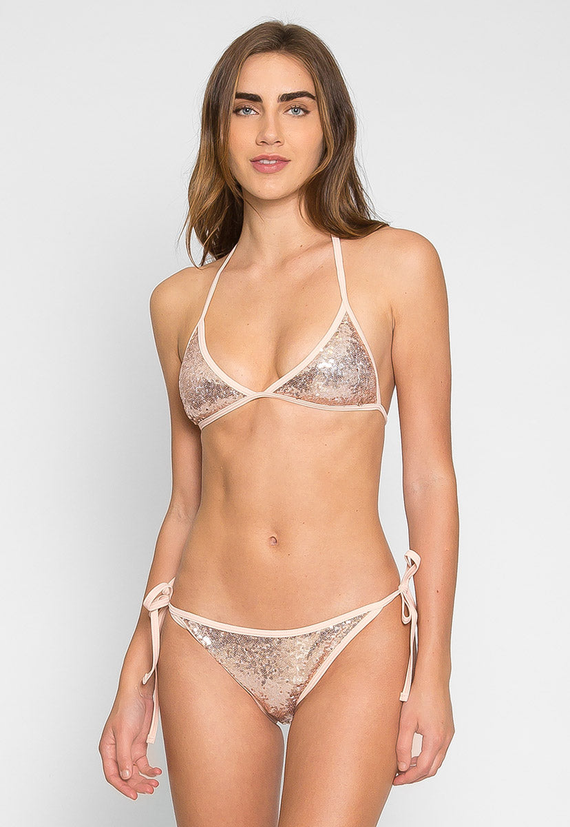 Sweet Luxe Sequin Bikini Set - Swimwear - Wetseal