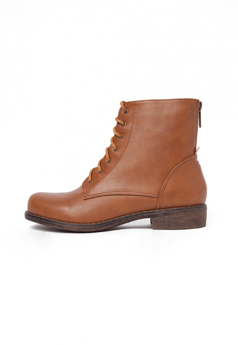 Take On Combat Boots in Brown - Shoes - Wetseal