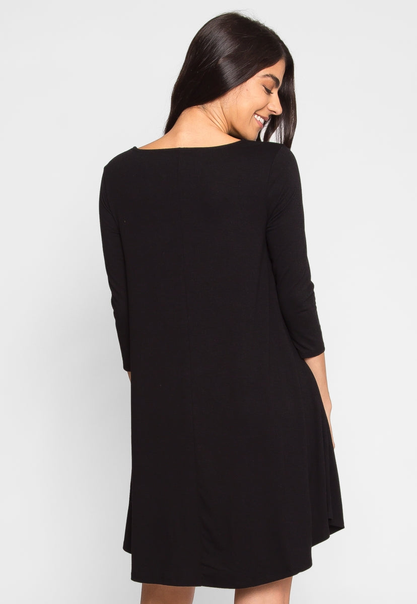 Airwaves Lattice Dress in Black - Dresses - Wetseal