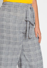 Plus Size Paperbag Glen Plaid Pants