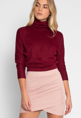 Athens Drape Mini Skirt in Pink