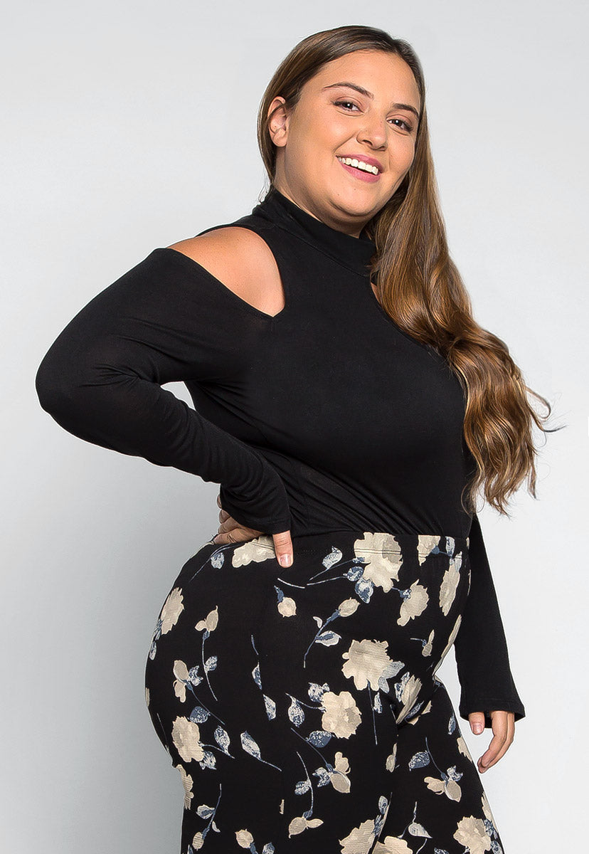 Plus Size Find Me Cold Shoulder Knit Top - Plus Tops - Wetseal