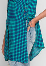 Boogie Tunic Plaid Button Up Top