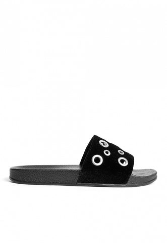 Rocker Grommet Sliders in Black