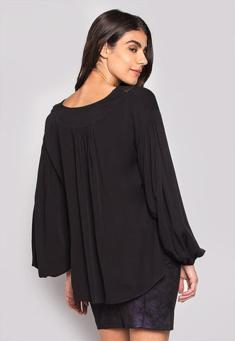 One Love Loose Fit Blouse In Black