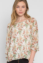 Sydney Floral Blouse in Cream