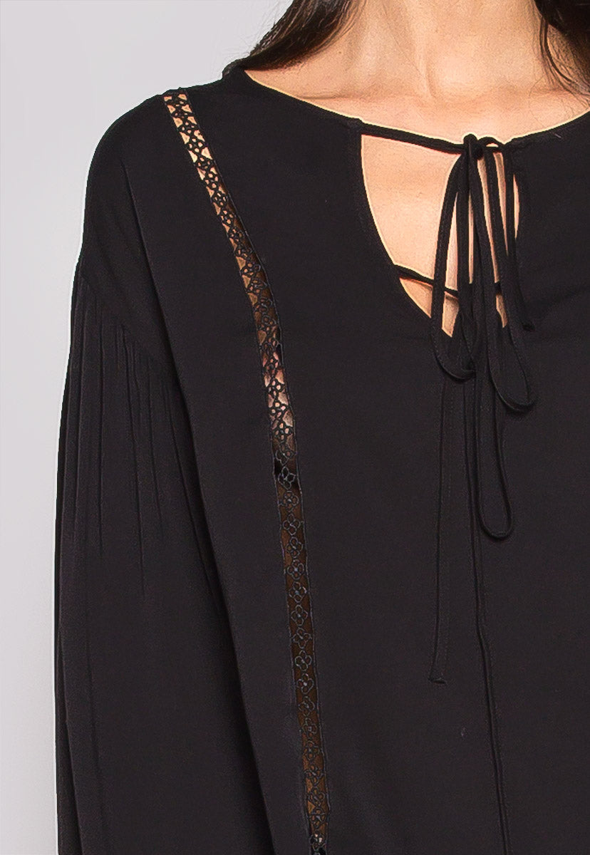 One Love Loose Fit Blouse In Black - Shirts & Blouses - Wetseal