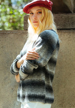 Whistler Stripe Knit Sweater in Gray