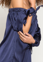 Dreams Satin Off Shoulder Dress