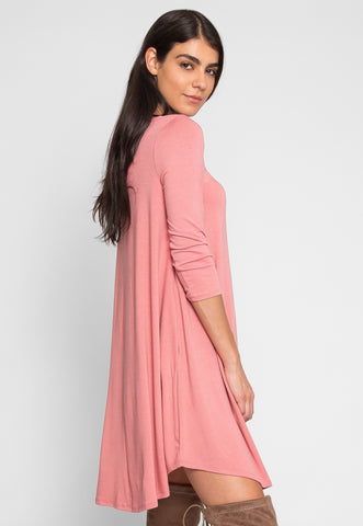Airwaves Lattice Dress in Pink